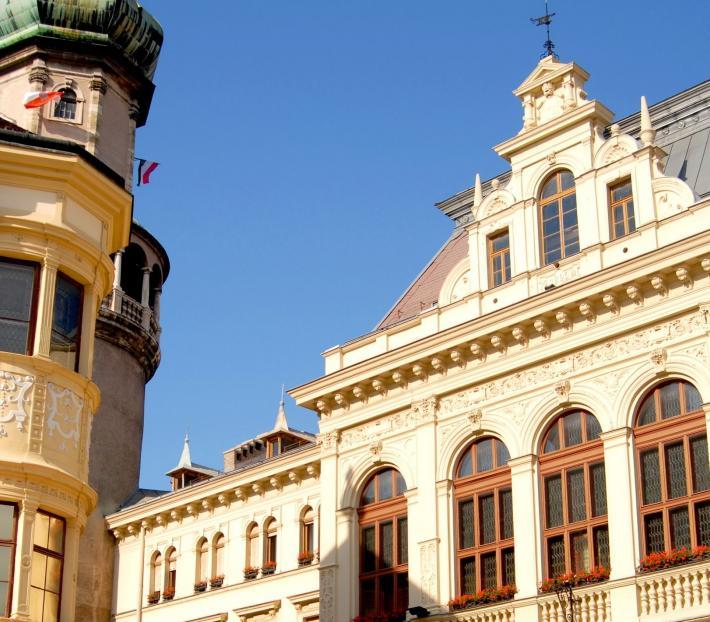 Sopron, Feuerturm und Hauptplatz