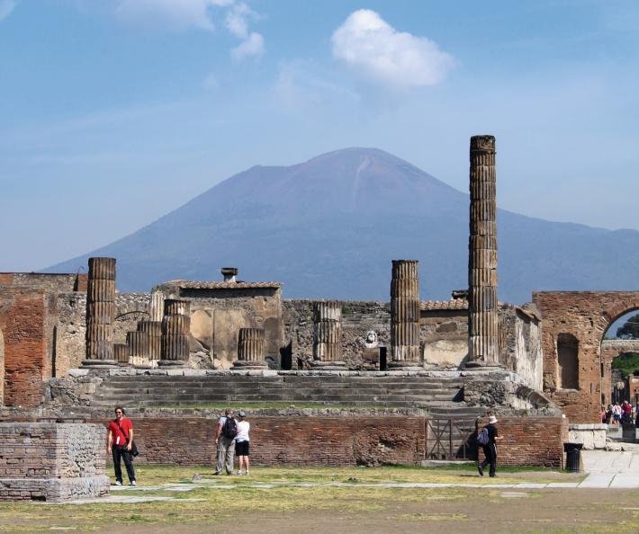 pompei mit Vesuv