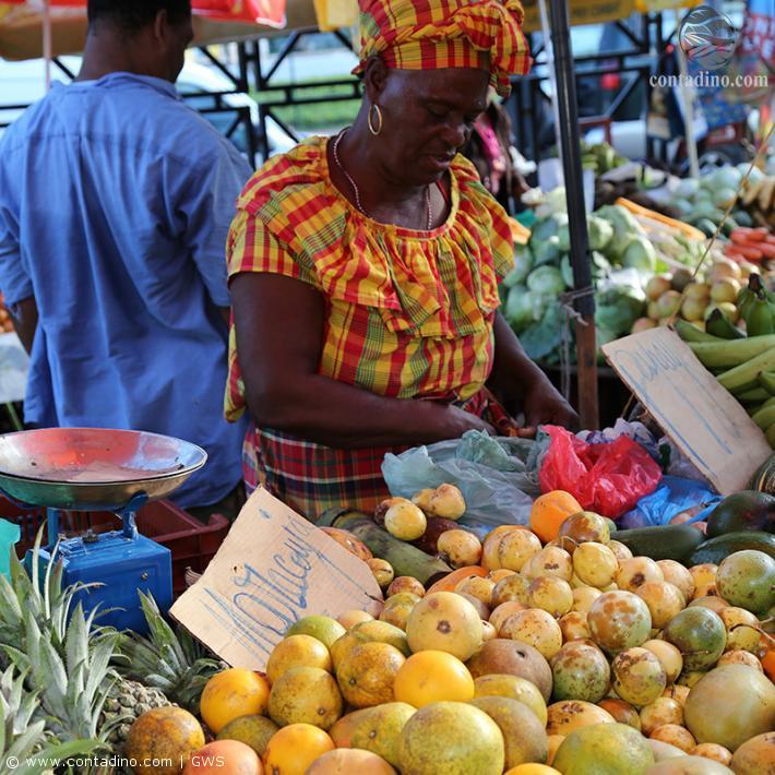 Kreolische Marktstandlerin