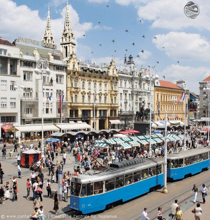 Der Ban-Jelačić-Platz in Zagreb