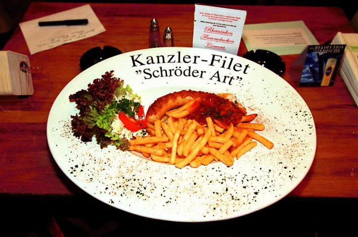 Altkanzler Schröders Lieblingsessen