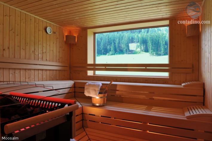 Saunabereich in der Moosalm