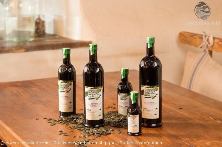 Steirisches Kürbiskernöl g.g.A. Flaschen
