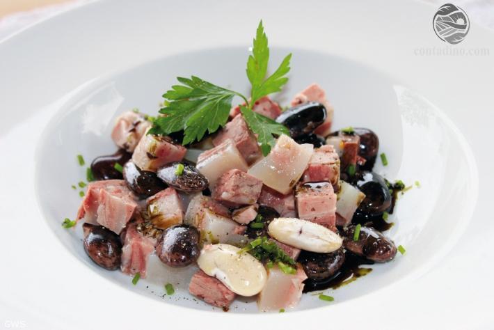 Käferbohnensalat mit Sulz