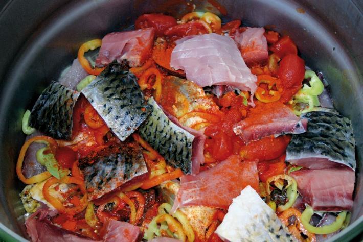 Ungarische Fischsuppe Seewinkel