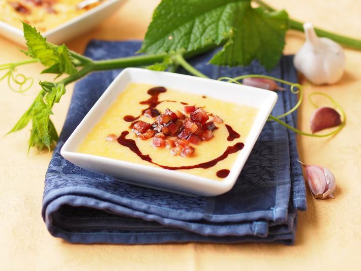 Kürbis-Polenta-Suppe