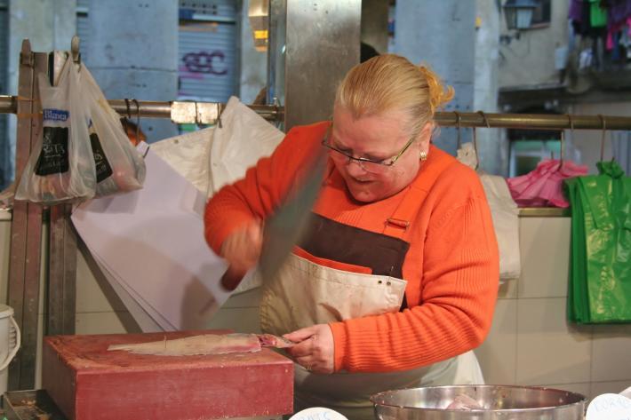 Barcelona Fischhändlerin