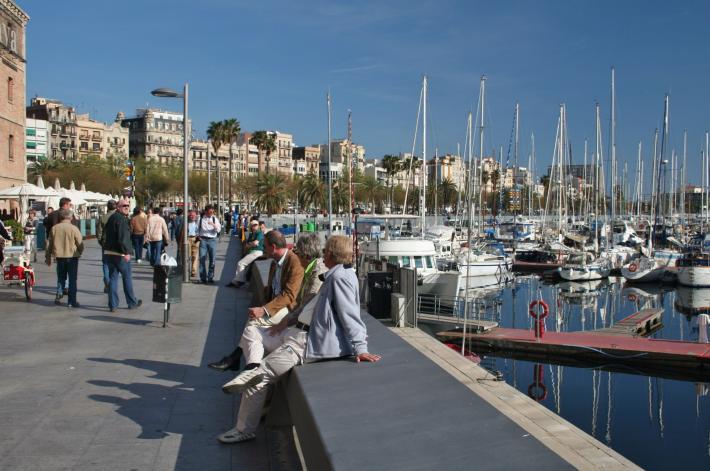 Barcelona Hafenimpression
