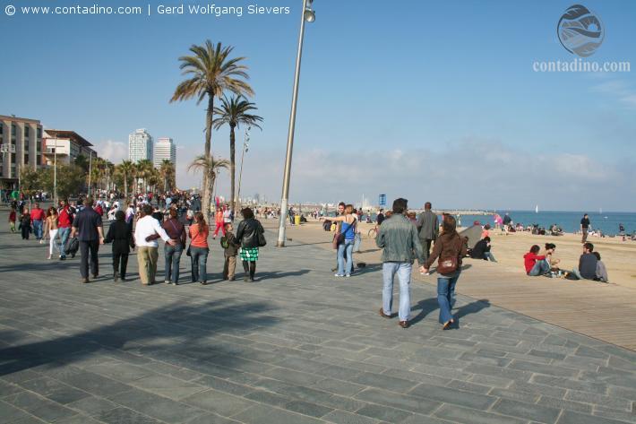 Barcelona Strandpromenade
