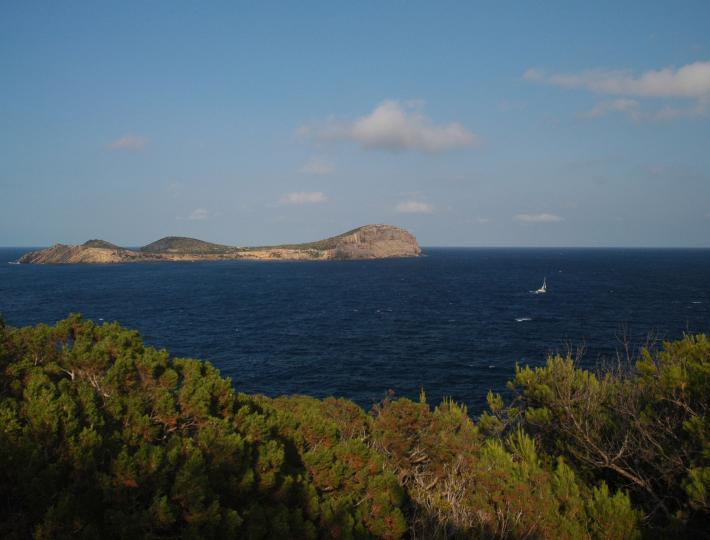 Ibizablick auf Tagomago